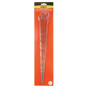 "15"" Chrome BBQ Skewers 4pk"