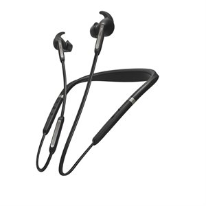 Jabra Elite 65e In-Ear Noise Cancelling Bluetooth Headphones, Titanium / Black