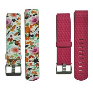 Affinity Fitbit Charge 2 Band Duo Pack TPU, Floral