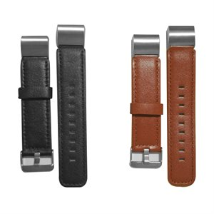 Affinity Fitbit Charge 2 Leather Band Duo Pack, Black / Brown
