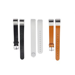 Affinity Fitbit ALTA / HR Band 3pk TPU / Leather, LG