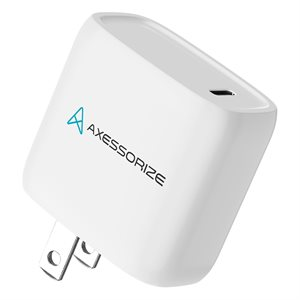 Axessorize 20W PROCharge USB-C PD Wall Charger - White