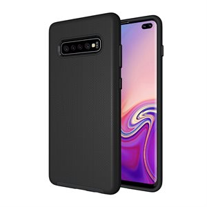 Axessorize PROTech Case for Samsung Galaxy S10 Plus, Black