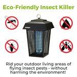 Lampe tue-insectes électron. Flowtron 1 acre - noir