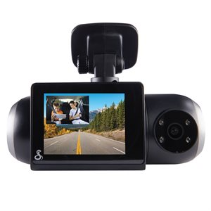 Cobra SC 201 Dual-View Smart Dash Cam with Built-In Cabin View - Black