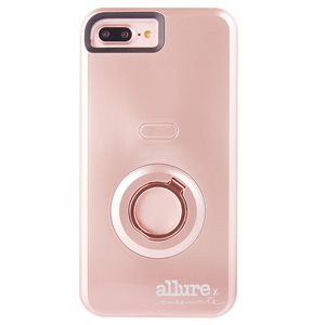 Case-Mate Allure Selfie Case for iPhone 6 Plus / 6s Plus / 7 Plus / 8 Plus, Rose Gold