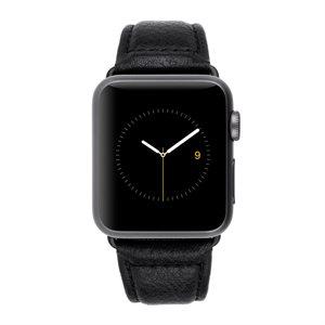 Case-Mate 38 mm Apple Watchband Black Pebbled Lthr
