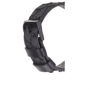 Case-Mate 38mm Apple Watchband, Croc Leather, Ebony