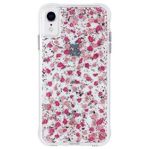 Case-Mate Karat Petals Case for iPhone XR, Ditsy Petals Pink