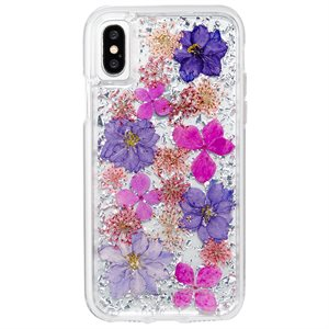 Case-Mate Karat Petals Case for iPhone X / XS, Purple