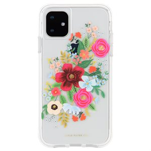 Case-Mate Rifle Paper Case for iPhone 11, Wild Rose