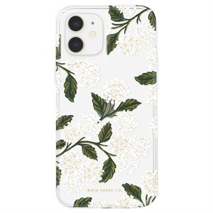 Case-Mate Rifle Paper Case for iPhone 12 Mini with Micropel - Hydrangea White