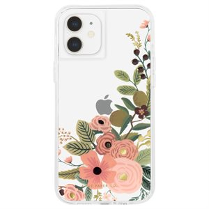 Case-Mate Rifle Paper Case for iPhone 12 Mini with Micropel - Rose