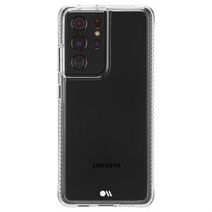 Étui Case-Mate Tough Clear pour Samsung Galaxy S21 Ultra avec Micropel - transparent