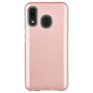 Case-Mate Tough Grip Case for Samsung Galaxy A20, Rose Gold