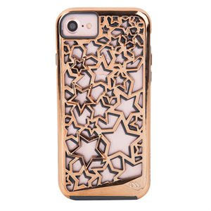 Case-Mate Tough Layers Case for iPhone 6 / 6s / 7 / 8, Rose Gold Stars