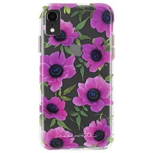 Case-Mate Wallpaper Case for iPhone XR, Pink Poppy