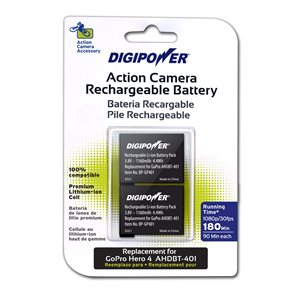 Digipower GoPro Hero4 + Rechargeable Li-ion Batteries-2PK