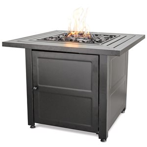 LP Gas Outdoor Firebowl w / Steel Mantel