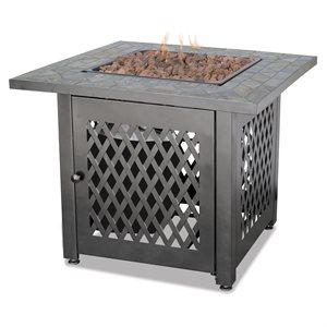 Endless Summer Firebowl with Slate Tile Mantel