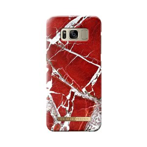 iDeal Fashion Case for Samsung GS8, Scarlet Red Marble
