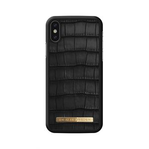 iDeal of Sweden Fashion Case Capri for iPhone Xs / X, Black Croc