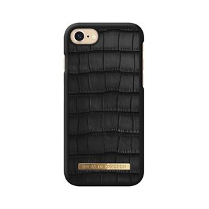 iDeal of Sweden Fashion Case Capri for iPhone 8 / 7 / 6s, Black Croc