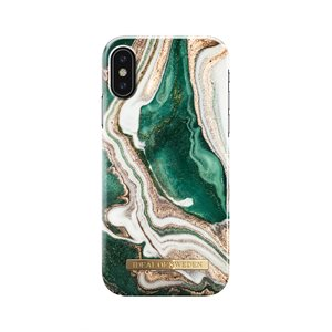 iDeal of Sweden Fashion Case for iPhone Xs, Golden Jade Marble