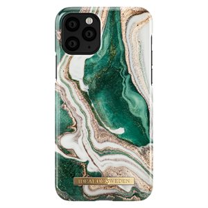 iDeal of Sweden Fashion Case for iPhone 11 Pro, Golden Jade Marble