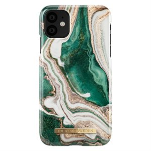 iDeal of Sweden Fashion Case for iPhone 11, Golden Jade Marble