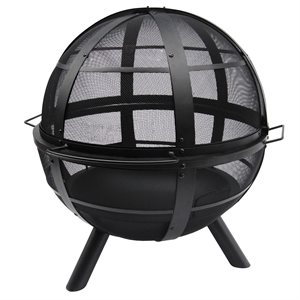 Landmann Ball Of Fire 30 inch Steel bowl with Cover included - Black