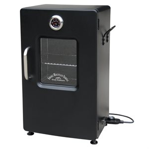 Landmann Smoky Mountain 26 inch Electric Smoker with Window - Black