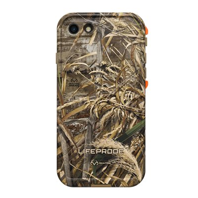 LifeProof FRÉ Case for iPhone SE / 8 / 7, RealTree Max5 Orange