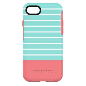OtterBox Symmetry Case for iPhone SE / 8 / 7, Aqua Mint Dip
