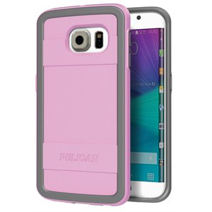 Pelican Progear Protector Case for Samsung Galaxy S6 Edge, Pink / Grey