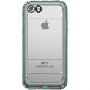 Pelican Marine Case for iPhone 7, Teal / Clear