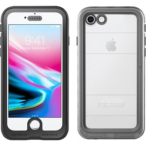 Pelican Marine Case for iPhone 7 / 8, Black / Clear