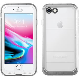 Pelican Marine Case for iPhone 8, Clear / Clear