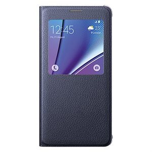 Samsung OEM Galaxy Note 5 Flat S View Cover, Blue / Black