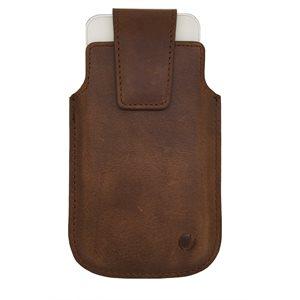 Vetta Leather Drop in Case for Medium Phones (iPhone 5 / 5s / 5c), Brown