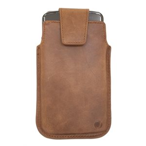 Vetta Leather Drop in Case for Large Phones (Samsung Galaxy S4, iPhone 6 Size), Brown