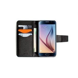 Vetta Leather Folio Case for Samsung Galaxy S6, Black