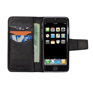 Vetta Folio Case for iPhone 6 Plus / 6s Plus / 7 Plus, Black
