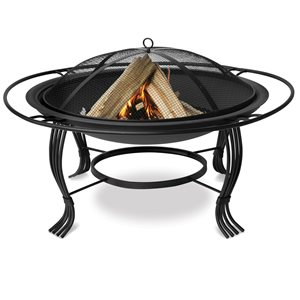 Blue Rhino Black Outdoor Firebowl w / Outer Ring